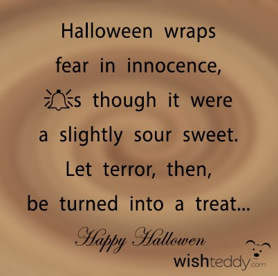 Halloween wraps fear in innocence as though