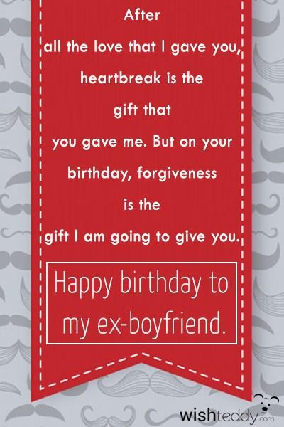 Birthday Gifts For Ex Boyfriend Diy Birthday Gifts