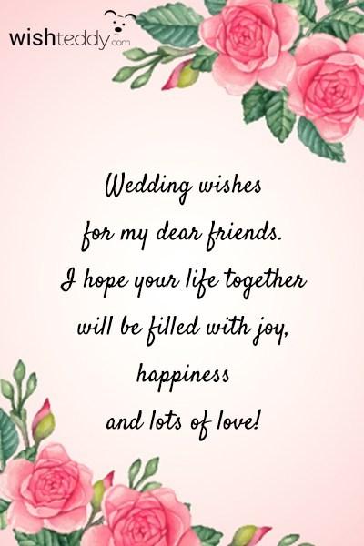 Wedding wishes for my dear friends m4hsunfo