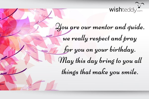 Birthday Wishes For Mentors ~ Birthday wishes for teacher page