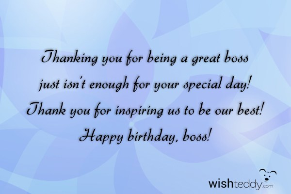 Birthday Wishes For Boss Page 6 Thanking Happy Birthday Wishes